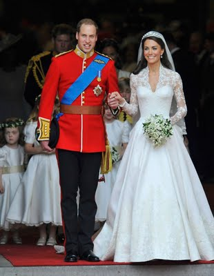William and Kate watched their own wedding on TV after tying the knot