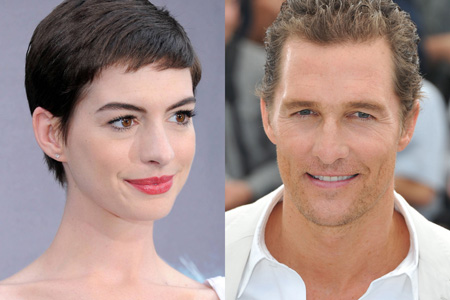 Hathaway isn't McConaughey's favourite co-star!
