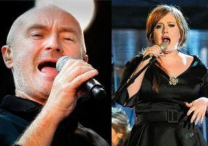 Adele and Phil Collins