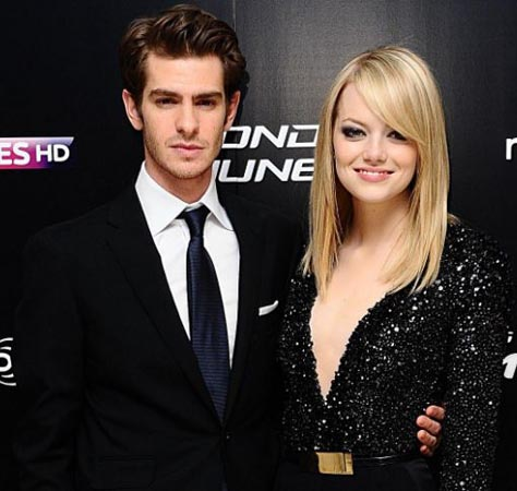 Andrew Garfield attends Emma Stone's Broadway debut