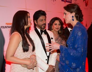 Bollywood's best line up to meet British royals