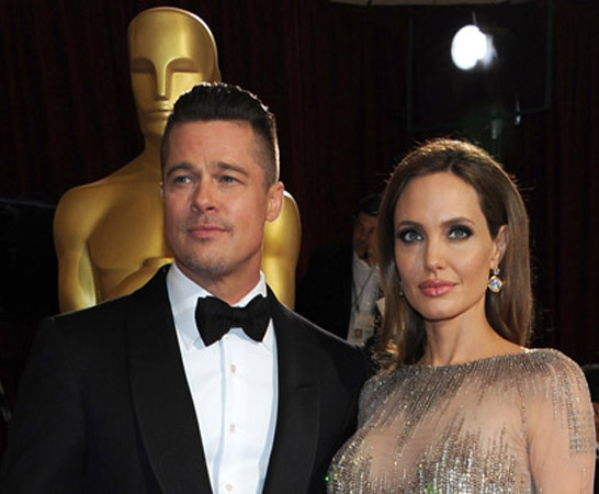 Brad Pitt wore jewellery designed by Angelina Jolie to Oscars