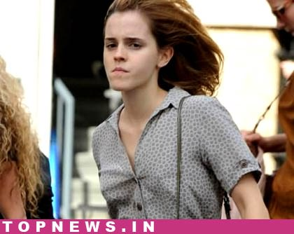 Emma Watson in the search of a wig!