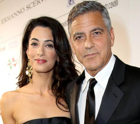 Clooney, Amal Alamuddin enjoy separate 'his-and-hers' parties ahead of Venice wedding