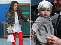 Parents trying to mimic Harper Beckham and Suri Cruises wardrobe 