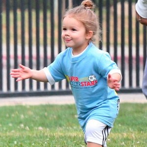 Becks' toddler Harper named 'most stylish celeb kid'