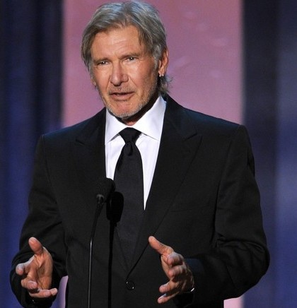 ... the news of his father Harrison Ford and Calista Flockhart's marriage.