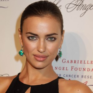 Irina Shayk flashes cleavage in slinky low-cut gown
