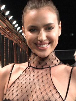 Irina Shayk sizzles in 'lingerie-inspired' sheer corset gown at Vanity Fair bash