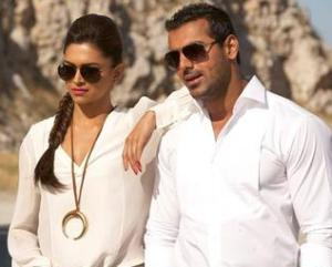 John Abraham and Deepika Padukone promote `Race 2` in Mumbai