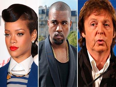Kanye West, Rihanna, Paul McCartney