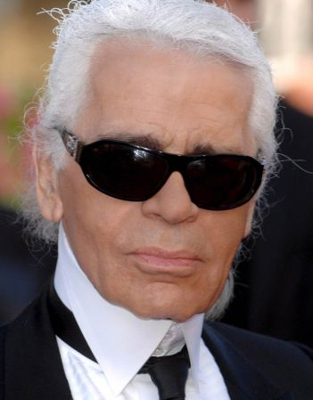 Lagerfeld turned designer by accident
