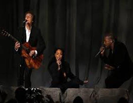 Top Grammy moments: Matador Madonna, Dancing Sir Paul and Kanye