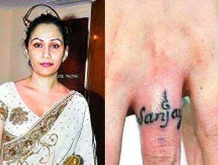 Manyata Dutt gets hubby Sanjay's name inked on ring finger