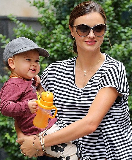 Justin Bieber's got a fan in Miranda Kerr's 21-month-old son