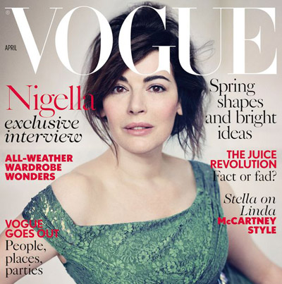 Nigella Lawson admits being 'terrified' to go sans make-up for Vogue cover