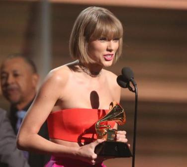 Taylor Swift hits out at Kanye West in Grammy speech