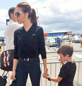 Victoria Beckham advised to wear `exactly same outfit as son`
