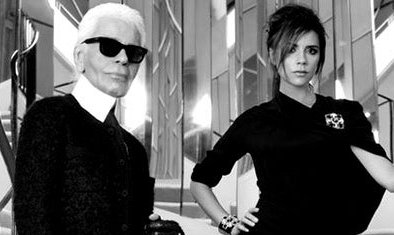 Victoria Beckham shoots with Lagerfeld
