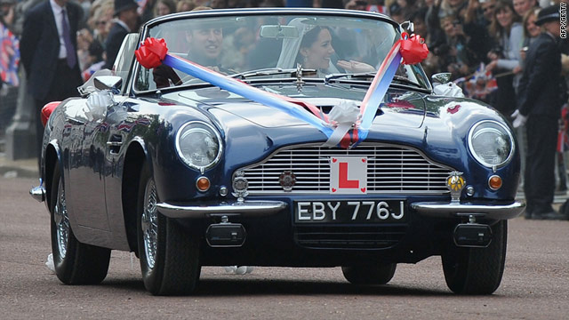 Will-Kate drove in wine-powered converted Aston Martin post wedding