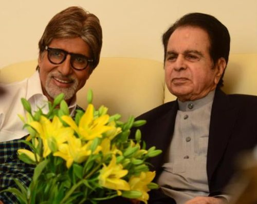 Big B `wishes prayers for good health` on Dilip Kumar's b`day