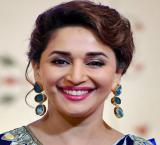 Madhuri birthday celebration with 'save girl child' message