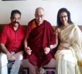 Kamal Hassan meets Dalai Lama