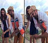 Ranbir-Deepika present `fishy` `Tamasha` for camera