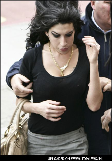 Amy Winehouse at the Thames Magistrates Court in London