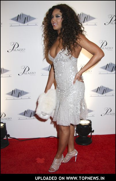 Beyonce Knowles at 40/40 Club Grand Opening