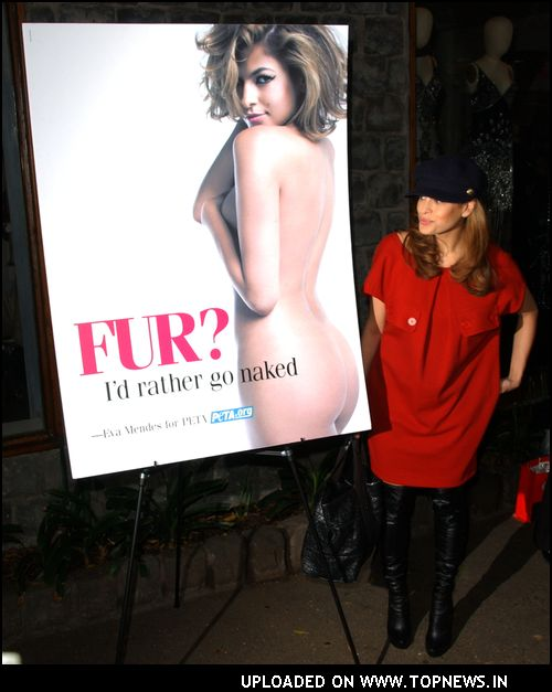 Peta unveils new ad of Eva Mendes