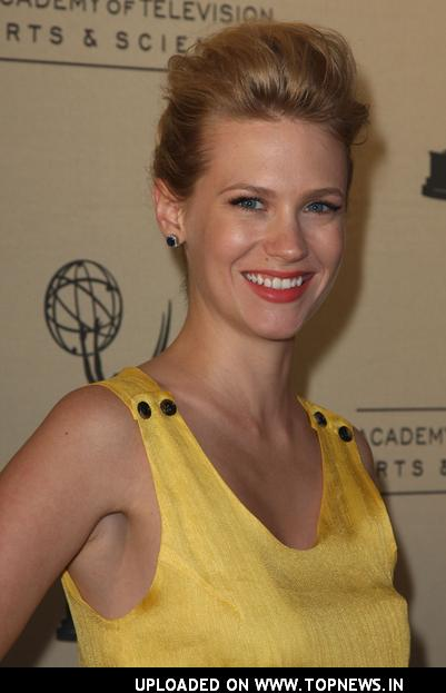 January Jones at the Academy of Television Arts & Sciences