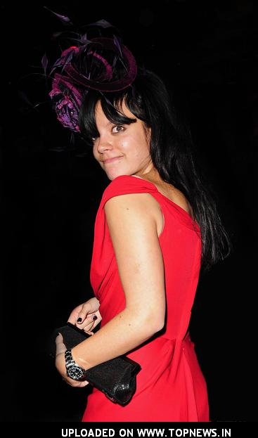 Lily Allen on Valentine's Day in London