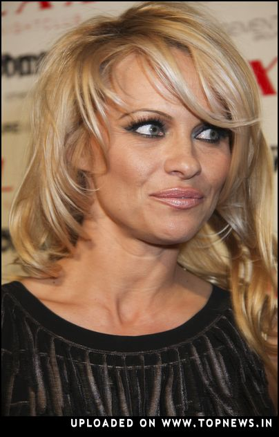Pamela Anderson at New Year's Eve 2008 Party