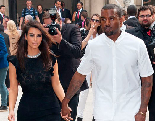 Kanye West, Kim in Paris without daughter