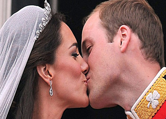 Wills-Kat's royal balcony kiss voted UK's favourite TV moment