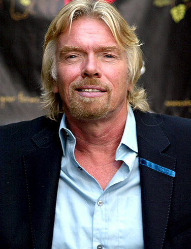 Branson's stint as stewardess put on hold after he injures his knee