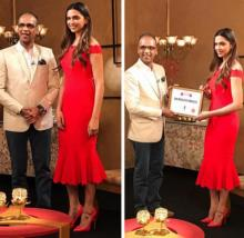 'The Priceless Princess' Deepika looks stunning in red