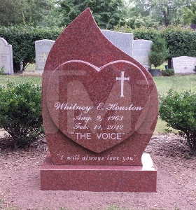 Whitney Houston's lyrics etched on her tombstone