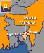 Tripura police arrest a juvenile with three American made pistols