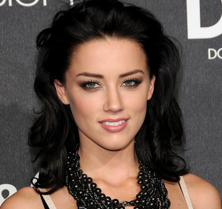 Amber heard black hair