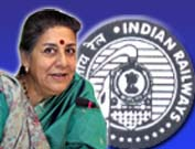 Ambika Soni, Indian Railways
