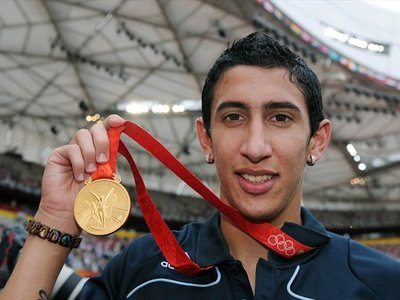 Young Argentine winger Angel Di Maria