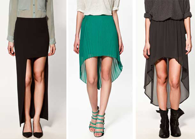 Asymmetrical-skirts