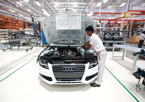 Audi gaining pace in distribution network