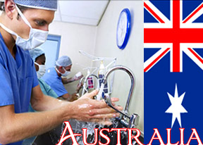 Less than 40 percent Australian doctors wash their hands after attending a patient