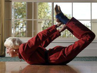 Meet the 83-year-old yoga 'supergran' who can bend over backwards!