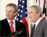 Tony Blair & George Bush