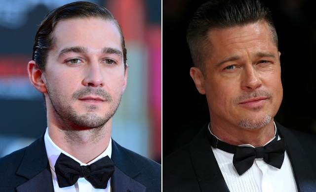 Shia is one of the best actors I've ever worked with, says Brad Pitt