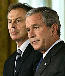Bush, Blair signed `blood deal'' to overthrow Saddam before Iraq war